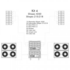 KIT 4 - LS Audio Slinpec 4260 - Slinpec 218-215