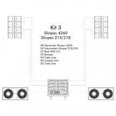 KIT 3 - LS Audio Slinpec 4260 - Slinpec 218-215